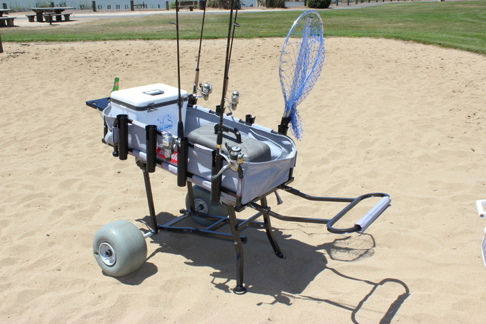 Fishing beach cart the best cart for Folding fishing cart